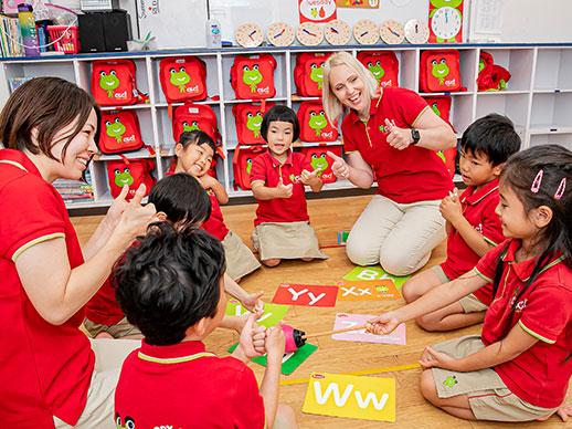 ネイティブ講師と日本人保育士のチームティング